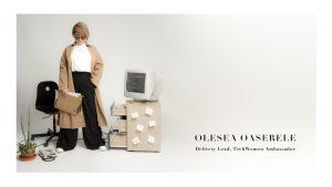 Olesea Oaserele - TechWomen Ambassador.